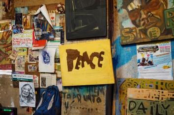 Recycelte Kunst für den Frieden