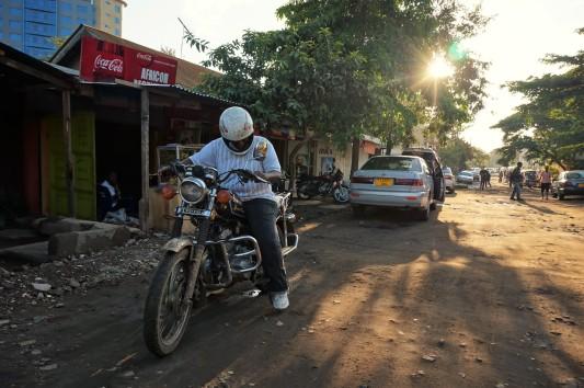 Seltener Anblick auf Arushas Straßen